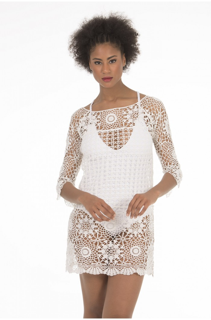 Vestido Crochet Color B00 Crudo Selmark
