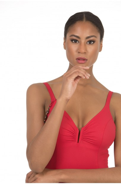 V-NECK WIRELESS SWIMSUIT