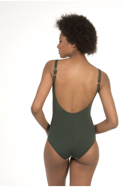 UNPADDED HIGH NECKLINE SWIMSUIT