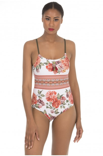 SQUARE NECKLINE SWIMSUIT