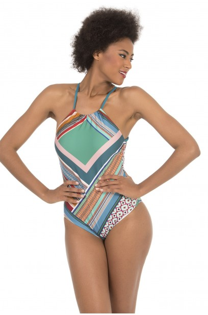 HALTER-NECK SWIMSUIT