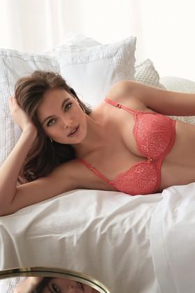 Comfort wrap effect bra