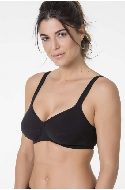 WIRELESS HYPOALERGENIC COTTON BRA